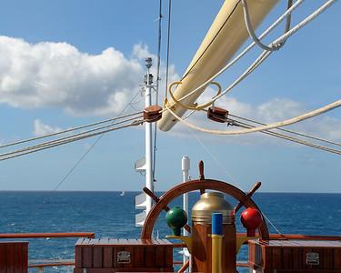 Looking towards stern