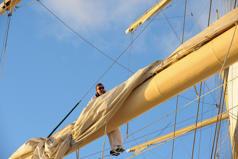 Alexey manually furling sails