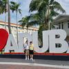 Us in Oranjestad, Aruba