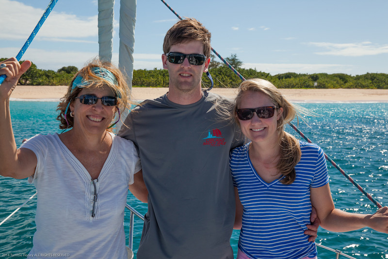 Tami, Max and Kristy at Tintamarre Island