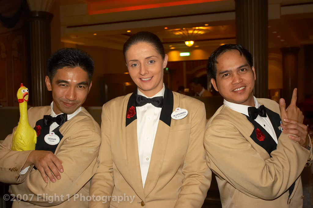Our dining room waiters