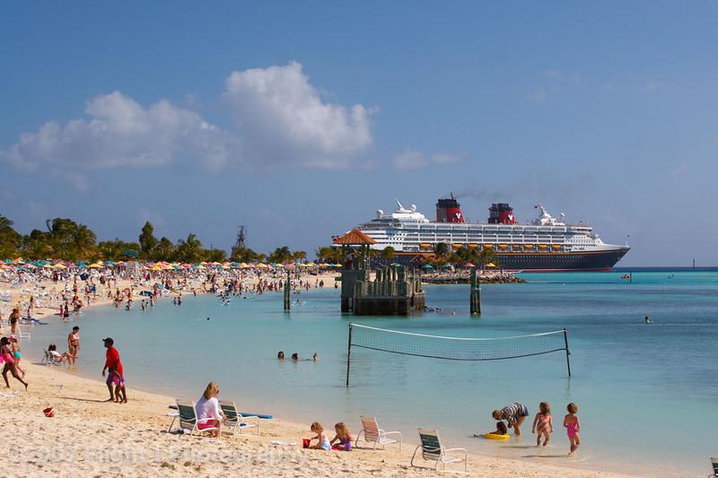 The beach and the Disney Magic