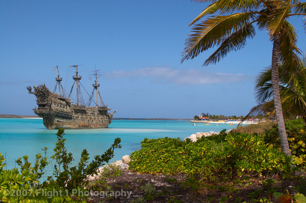 Ghost ship at Castaway Cay: The Flying Dutchman