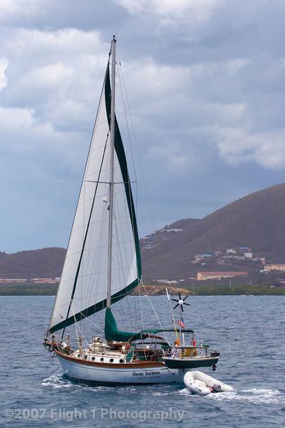 Sailing at St. Maarten