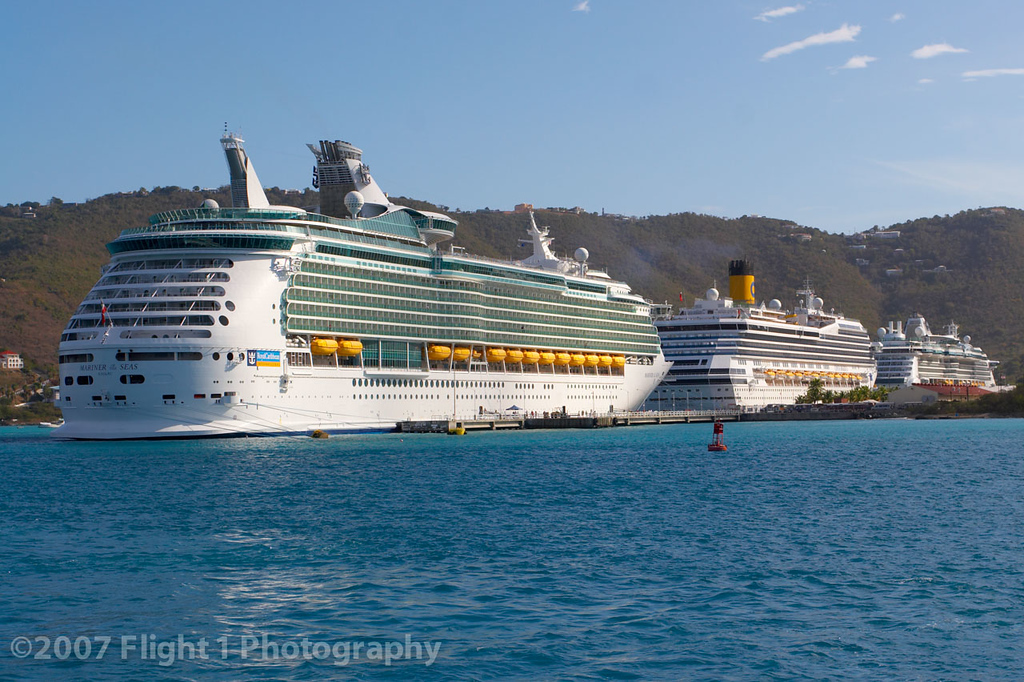 Some of the other ships in St. Thomas harbor