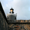 Lighthouse on El Morro, San Juan, Puerto Rico.