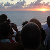 Passengers watching the sunset