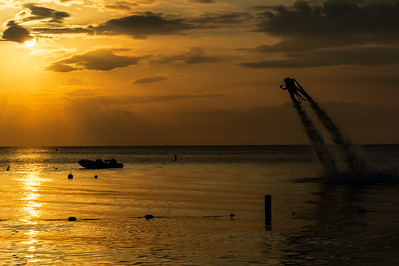 Rocket Man and Sunset on Seven Mile Beach, Grand Cayman