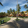 Our building in Dominicana - Tropical Princess. Our windows on the left side, behind palm trees.