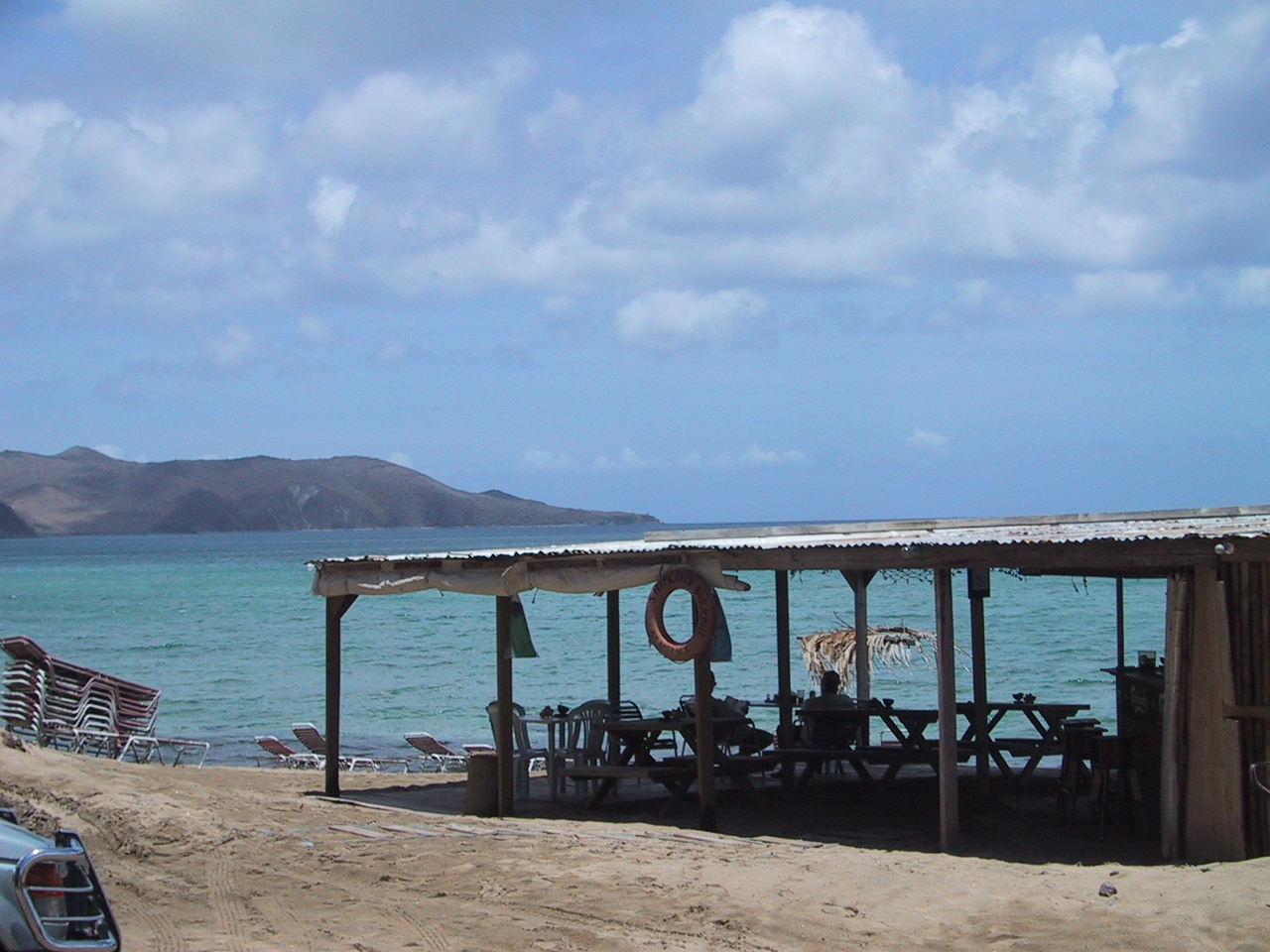 St. Kitts beach bar - replaced by Kaiwah development