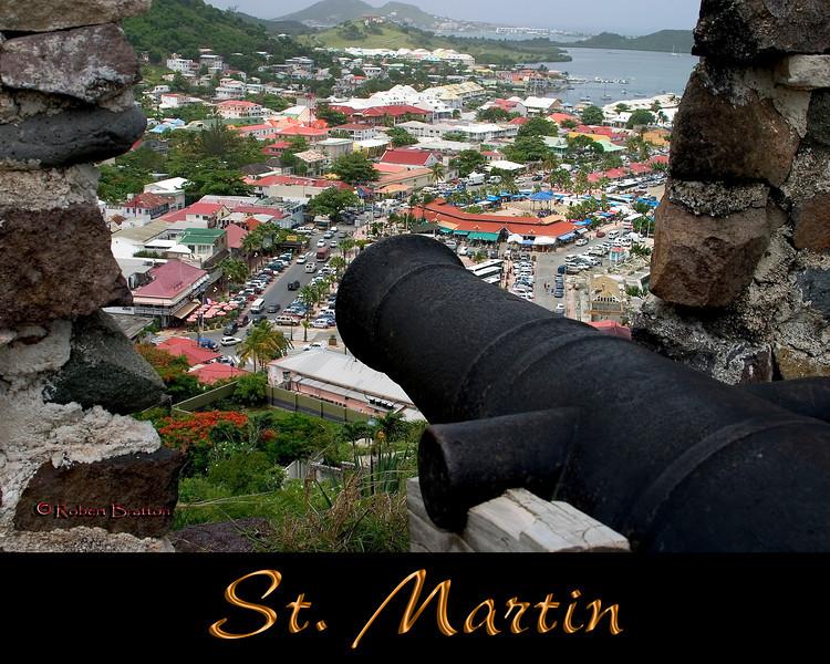 Overlooking Marigot, St. Martin