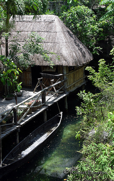Mayan Hut by the River