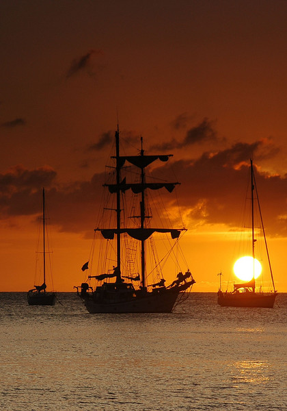 Day's End. Statia (Sint Eustatius), Netherlands Antilles
