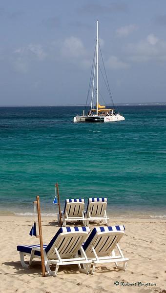 Beach at Grand Case, St. Martin