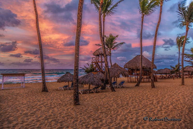 Sunset on the Beach at Punta Cana, Dominican Republic