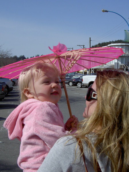 Princess Margaret's new pink parasol