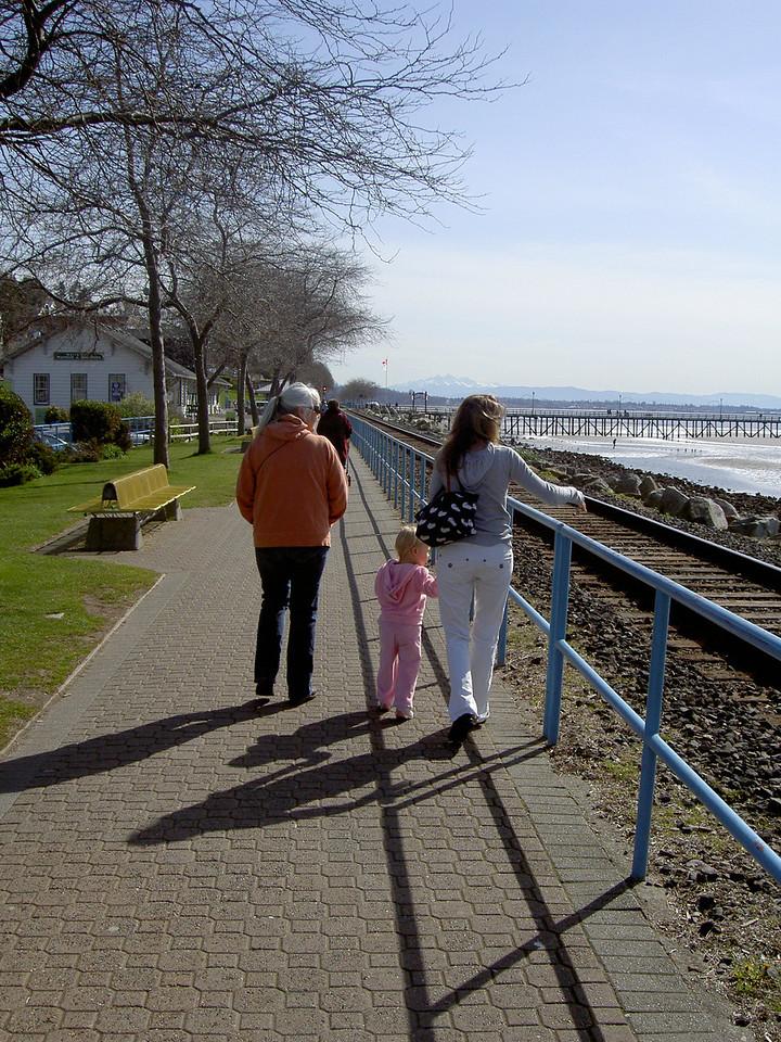 Carla, Margaret and Erin on the White Rock board walk