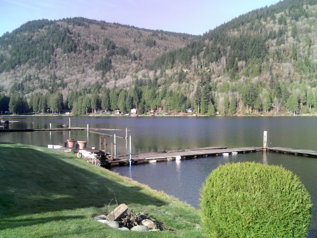 Shared dock with other cabins on Lake Whatcom