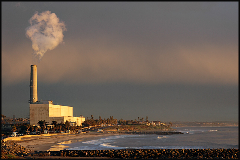 Sunset at Carlsbads power plant. 02-14-08