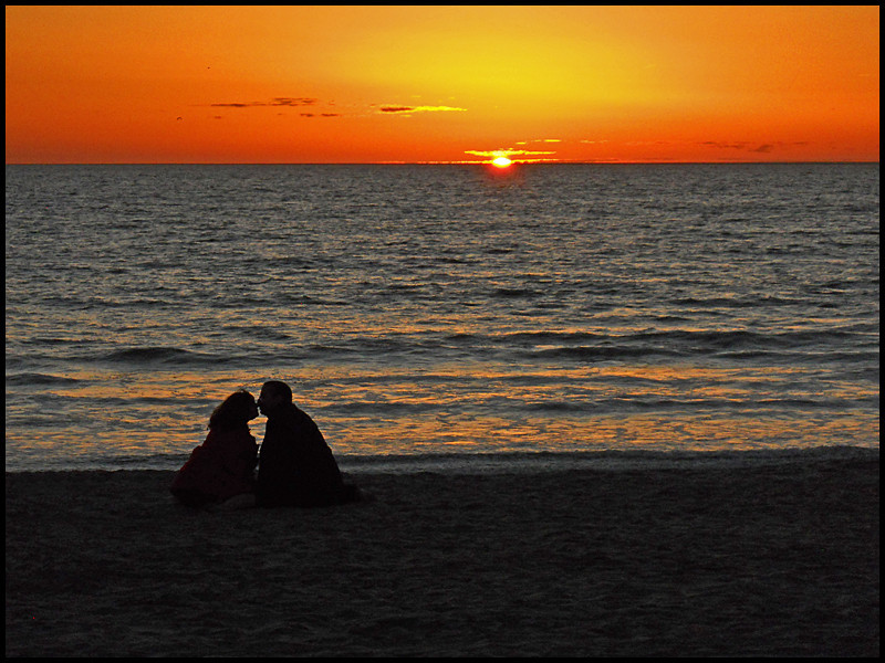 """The Kiss""  Valentine's day sunset, 2011, Carlsbad, Ca."