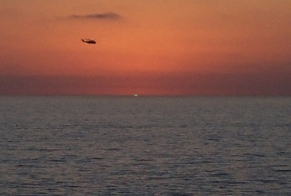 "I caught the ""green flash"" at sunset!"