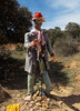 Well-dressed pilgrim going nowhere,