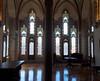 Gaudi chapel windows.