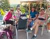 Delightful breakfast with fellow Swedish and American pilgrims in Orbigo.