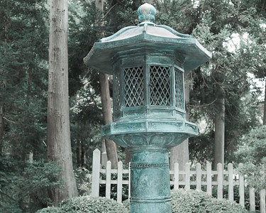 Japanese copper lantern, Golden Gate Park, San Francisco