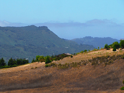 Above Carmel Valley, looking west to the Pacific