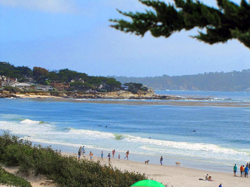 Surfers at Carmel City Beach