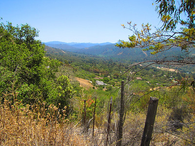 Eastern Carmel Valley, looking SE from Laureles Grade