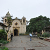 The mission San Carlos Borromea de Carmelo.  Founded in 1770 in Monterey by Father Junipero Serra and then moved to the fertile and well-watered Carmel valley in 1771.