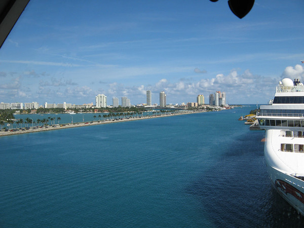 Port in Miami before setting sail.