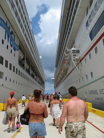Returning to ship in Costa Maya, Mexico.