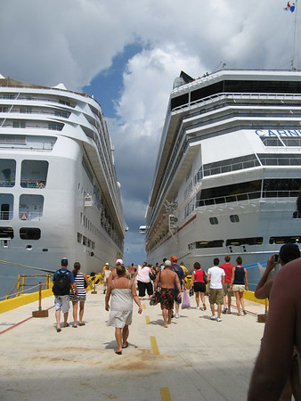 Returning to ship in Costa Maya, Mexico.