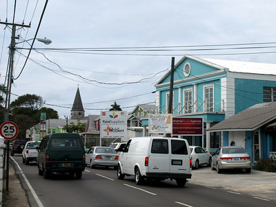 "We took a walk around the ""real"" Nassau. Can you find a sidewalk in this picture? Neither could we."
