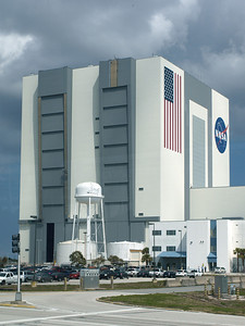 We spent the day at the Kennedy Space Center. That's a full-sized water tower in front of the Vehicle Assembly Building.