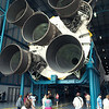 Business end of a Saturn V rocket.