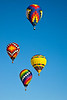 Hot air balloons fill the sky during the Carolina Balloon Festival, Statesville, North Carolina.