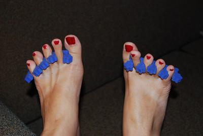 Gettin' da toes ready