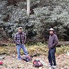 Kenny and Harry at Lower Bear Wallow Falls<br /> Gorges State Park NC