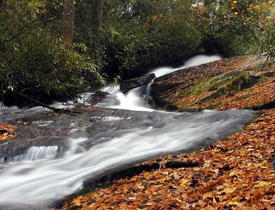 Buttermilk Falls NC in Autumn
