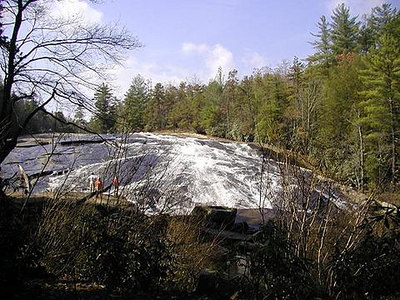 Bridal Veil Falls in DuPont State Forest NC
