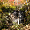 Waterfall Left Branch Henry Creek<br /> Pisgah National Forest, North Carolina<br /> October 2012