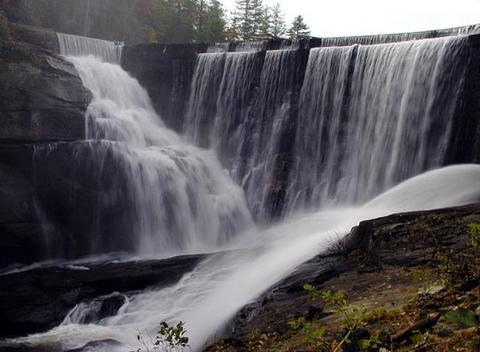 Cascade Lake Dam and Falls NC