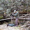 """Waterfall Rich Stevenson is THE man with the mojo for North Carolina waterfalls.<br />  <a href=""""http://www.ncwaterfalls.com"""">http://www.ncwaterfalls.com</a> <br /> Here he is working hard at Lower Bear Wallow Falls <br /> Gorges State Park NC"""