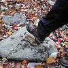 Cathy gives step 2 of Shoe Replacement Lesson<br /> If you loose your shoe while on this hike.. tie this rock to the bottom of your foot!