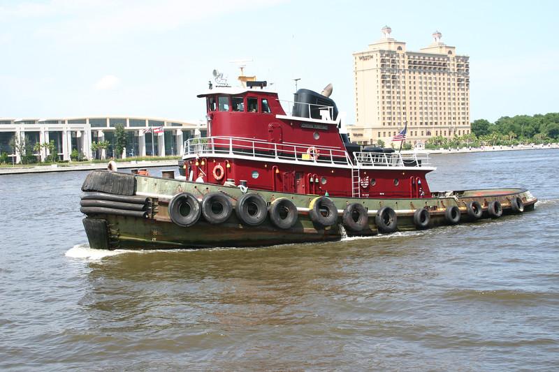 Tugboat on the Savannah River.