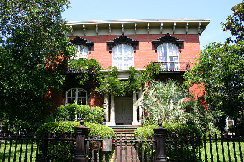 Mercer House.  Savannah, GA.  The owner of this house was Jim Williams.  Jim Williams was a home restorer and almost single-handedly was the impetus that got the historic district of Savannah restored & saved from the bulldozers.
